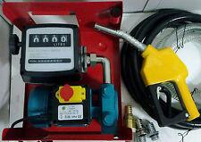 Elettropompa pompa Travaso Gasolio + contalitri + pistola + tubi diesel 600W