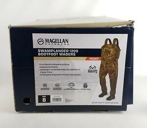 Magellan Swamplander 1200 Bootfoot Waders Realtree MAX-5 Size 8 Camo New Steel