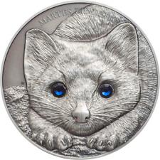Mongolia 2017 500 Togrog Wildlife Protection  Sable 1 Oz Silver Antique Coin