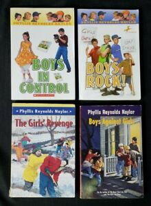 Set Series Lot ~ 4 Boy/Girl Battle ~ Phyllis Reynolds Naylor ~ FREE SHIP