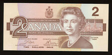 1986 Bank of Canada $2 - Transitional Prefix S/N: AUG4601645