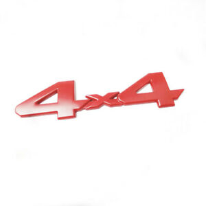 3D 4x4 Metal Logo Car Rear Tailgate Sticker Emblem Badge Decal Decor Accessories