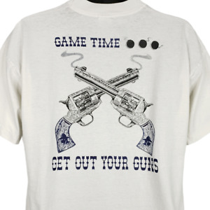 Outlaws T Shirt Vintage 90s 1996 1997 Game Time Get Out Your Guns 50/50 Size XL