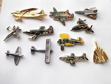 SALE AIR FORCE JET PLANE AEROPLANE AIRCRAFT RAF VINTAGE PIN BADGE JOB LOT BUNDLE