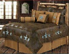 Turquoise Triple Star Western 6 Pc Super Queen Comforter Bedding Set-SAVE BIG!