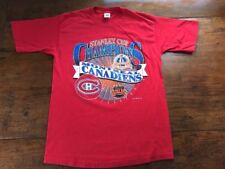 1993 MONTREAL CANADIENS STANLEY CUP NHL CHAMPIONS Large T Shirt Logo 7 Hockey