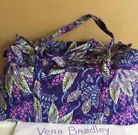 NWT Vera Bradley Large Duffel Travel Bag Tote Bag in Batic Leaves