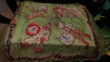 "Ca 1949 ""Happy Birthday 4 Years Old"" Children's Silk Scarf Circus Motif 22"" Rare"