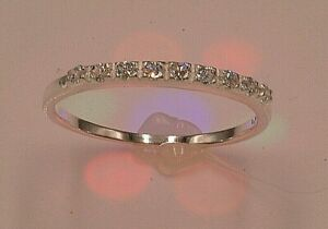 massiver Sterling Silber 925 Ring filigran dezent zierlich feminin 9 Zirkonia