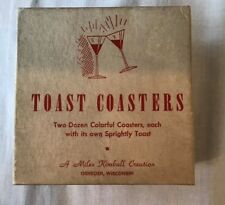 Vintage Toast Coasters ~ 23 Colorful Coaster With It's Own Sprightly Toast