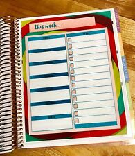 This Week Daily To Do Notes Dashboard Insert for use with Erin Condren Planner