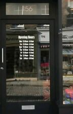 A4 sized opening hours times shop window stick on door vinyl sign