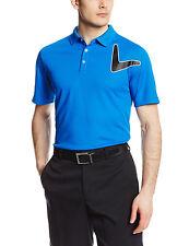 New Mens Blue Callaway Performance Short Sleeve Polo Golf Shirt Size M Msrp $65