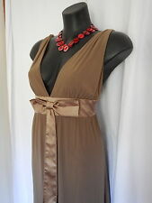 SIZE 16 SMART FLATTERING BROWN BNWT EVER-PRETTY SUMMER MAXI DRESS - LACE DETAIL
