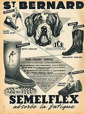 PUBLICITE ADVERTISING 045  1953 SEMELFLEX ST BERNARD  bottes chasse pantoufles b
