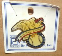 New Vintage 1985 MLB Baseball American League Metal Hat Lapel Pin Pinback