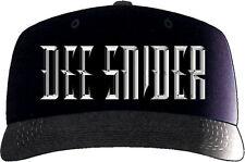 Dee Snider - Black Embroidered Logo Hat / Baseball Cap