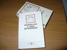 EDWARD LEAR IL LIBRO DEI NONSENSE I MILLENNI 1970 EINAUDI EDITORE INTROD.C.IZZO