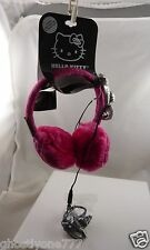 Hello Kitty sanrio Ear muffs headphones play music bow pink silver
