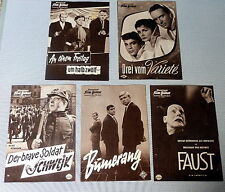 5 IFB-FILMPROGRAMME * NATIONAL - KONVOLUT - SAMMLUNG - 50er-Jahre