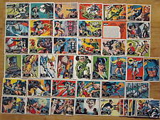 BATMAN Topps 1966 Black Bat Trading Cards Full Re issue Set