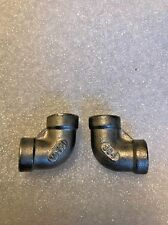 2Pcs 304 Stainless Steel 1/8 Elbow 90 degree Pipe Fitting Female threaded