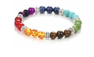 🌱7 Chakra Perlen Armband,Halbedelsteine,Yoga,Heilung,Energie,Geschenk Muttertag