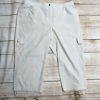 Zenergy By Chicos Women's 3 / XL Beige Lightweight Cargo Hiking Pants Cropped