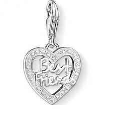 New Thomas Sabo Sterling Silver CZ set Best Friend Heart charm 1307 £55.00