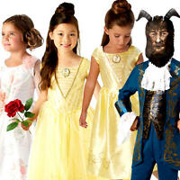 Live Action Belle Beauty And The Beast Fancy Dress Disney Princess Kids Costume