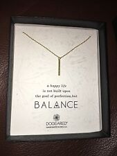 Dogeared Sterling Silver Gold Balance Stardust Tube Necklace Pendant Vertical US