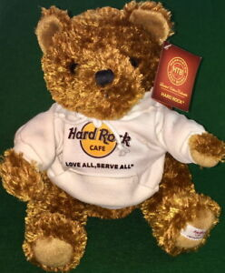 Hard Rock Cafe ONLINE 2010 Founders Day Teddy Bear PLUSH w/HRC Logo LASA Hoodie