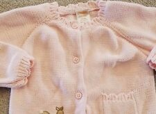 CLOSEOUT! GYMBOREE 6-12 MONTH PINK KNIT BUTTON UP DEER SWEATER