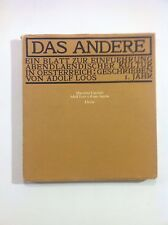 Das Andere - Massimo Cacciari, Adolf Loos
