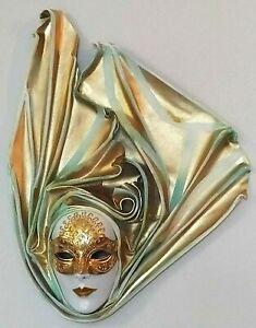 Renaissance - Maschera veneziana artigianale in cartapesta e cuoio - Pezzo unico