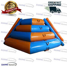 16ft Inflatable Slide & Floating Climbing Rock Mountain Water With Air Pump