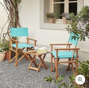 Garden Table And Chair Set Turquoise Director Bondi Scandi Boho Modern Furniture