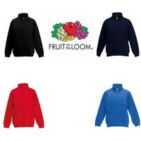 Fruit of the Loom Classic 80/20 Boys Girls Sweatshirt Jacket