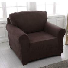 Easy Stretch Couch Sofa Lounge Covers Recliner 1 2 3 4 Seater Dining Chair Cover 2 Seater(145-185cm) Chocolate