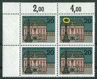 Bund Nr. 424 I postfrisch Viererblock VB Plattenfehler BRD PF Michel -- . -- MNH