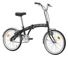 Cicli Cinzia pieghevole Carbike senza cambio bicicletta Uomo Nero opaco 20