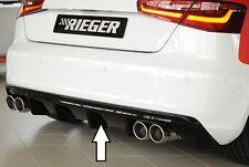 Rieger Heckeinsatz in schwarz glanz Doppelend li/ re für Audi A3 8V ohne S-Line
