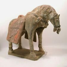 Chinese Sui dynasty (581-618 AD)  painted terracotta horse  33 cm length