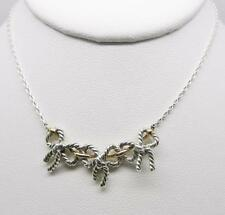 TIFFANY & CO. STERLING SILVER 18K YELLOW GOLD TRIPLE BOW NECKLACE  -  LB-C0748