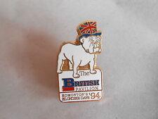 Vintage 1994 Edmonton Canada Klondike Days British Bulldog Enamel Souvenir Pin