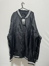 Label-J Men's Black Bomber Jacket Size 3XL New with Tags