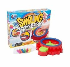 SPIROGRAPH STYLE SWIRLING GLITTER ART STORM WITH PAINT CHILDRENS CRAFT TOY TPS
