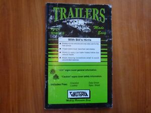 TRAILERS AND FIFTH WHEELS MADE EASY BY  BILL BRYANT 1889931020 1996 RARE BOOK