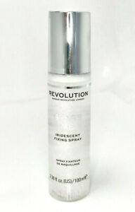 REVOLUTION Glass Shimmer Fix Fixing Spray - Iridescent Makeup Setting Mist Fixer