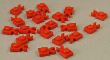 LEGO - 20 x Platte 1x1 rot  mit O - Clip waagerecht / 4085d NEUWARE